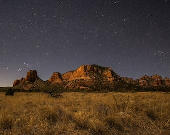 Night sky and stars, Sedona, Arizona, star art, southwest decor, arizona art, sedona photography, star photography, southwest art
