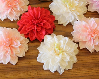 "30pcs 15cm/5.91""  Artificial Simulation Dahlia Flower Head DIY Wedding Flower Wall Backdrops Holiday Decoration Accessories"