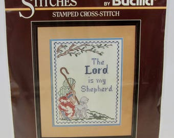 Bucilla The Lord Is My Shepherd Stamped Cross Stitch Kit 32318