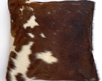 Natural Cowhide Luxurious Hair On Cushion/ Pillow Cover (15''x 15'') A31