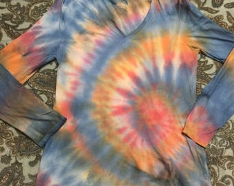 Large Spiral Tie Dyed Long Sleeve Shirt