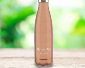 Personalized Stainless Steel Water Bottle - Personalized - Monogrammed - Active Gifts - Gifts for Her - Gifts for Him - Grad Gifts - GC1585