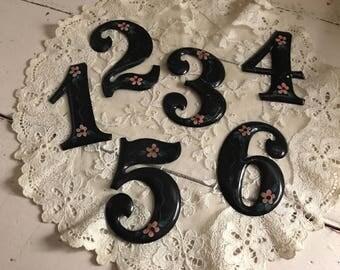 Hand-painted Vintage Numbers