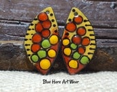 Enameled Earring Charms Blue Hare Art Wear Jewelry Components Jewelry Supplies Butterfly Wings