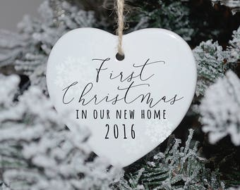 First Christmas in our New Home Christmas Bauble/Decoration Wedding Gift