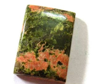 35% Sale -- Unakite Jasper, 27 x 19 mm Size, Cabochon, Rectangular Shape, 1 Pc