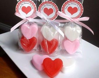 Heart Wedding Favors - Heart Bridal Shower Favors, Heart Baby Shower Favors, Valentine Wedding Favors Soap - Set of 10