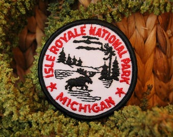 Vintage Isle Royale National Park Patch