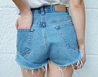 Vintage Denim High Waisted Shorts - Liz Claiborne - XS