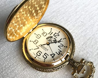 Vintage Japan Eagle Pocket Watch