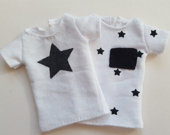 Black & White star T-shirts for Isul - 2 pack