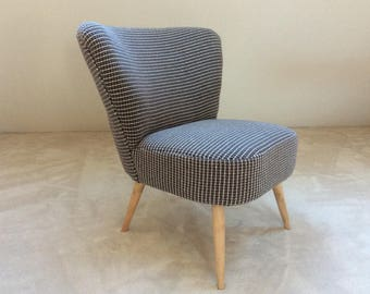 Fabric vintage cocktail Chair mesh