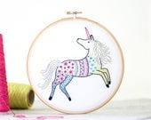 Unicorn Embroidery Kit - Contemporary Embroidery - Modern Embroidery Kit - Hand Embroidery Kit - Craft Kit - Embroidery Pattern