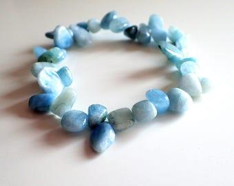 Aquamarine bracelet , Gift for her , Womans gift , Healing bracelet , Gift for girlfriend , Gift womans , Gift for sister