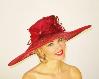 Fancy Kentucky Derby Hat with Woven Brim