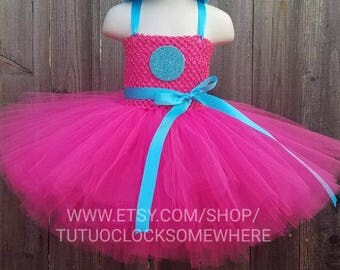 Smidge Troll Inspired Tutu Dress, Smidge Dress, Smidge Outfit, Smidge Costume, Troll Costume, Smidge Tutu, Poppy Costume