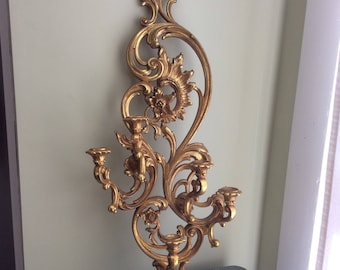 Vintage 1960s HOLLYWOOD REGENCY Syroco 5 Arm Candle Sconce