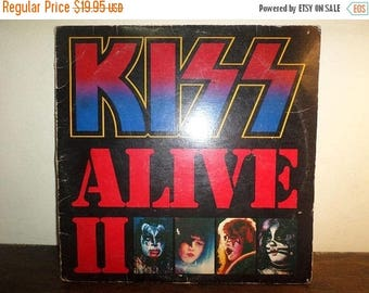 Save 30% Today Vintage 1977 LP Record Kiss Alive II Casablanca Records Two Record Set Very Good Condition 10040