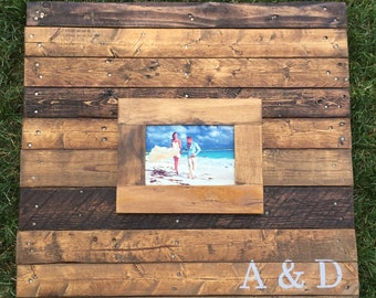 Wooden guest book, wood signage, wedding pallet sign, wall art, rustic photo sign, recycled pallet, wedding guestbook alternative wood 30x30