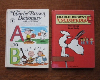 Charlie Brown's 'Cyclopedia, Dictionary, Both Vol./Volume 1, Vintage Peanuts, Children, Charles Schultz,Charlie Brown Books,Your Body,A to B