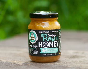 Raw Honey - Sweetclover (6 oz): Sweetclover-flavored, pure honey from Bee Kings