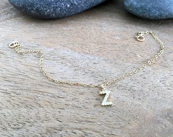 Cubic Zirconia letter Necklace Cz Initial Necklace Letter Necklace Monogram Jewelry Letter jewelry Initial Jewelry 14k gold filled Necklace