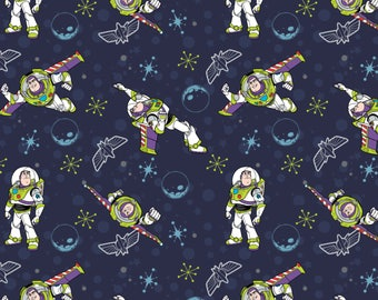 Disney Fabric Toy Story Fabric Buzz Fabric in Navy From Camelot 100% Cotton
