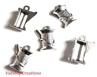 Spool of silver wire 2 X 15mm Tibetan