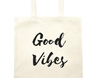 Good Vibe Tote Bag - natural