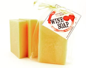 Wine Soaps -Pinot Grigio Wine Soap - White Wine Soap, Wine Lover, Gift for Her, Bachelorette, Bridesmaid Gift, Wedding, Stocking Stuffer