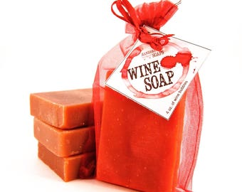 Merlot Wine Soap - Red Wine Soap, Mother's Day, Wine Lover, Gift for Her, Stocking Stuffer
