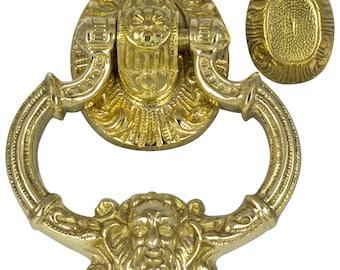 HEAVY Solid Brass Face Door Knocker Vintage Style Replica NEW