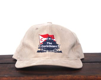 Vintage 90's The Corinthians Yacht Club Sailing Organization Strapback Hat Baseball Cap