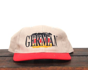 Vintage 90's German European Country Nation Strapback Hat Baseball Cap