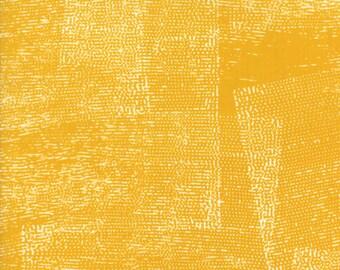 1/2 Yard - Fragile - Stamped - Mustard - Zen Chic - Brigitte Heitland - Moda - Fabric Yardage - 1632 18