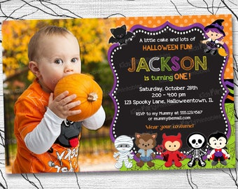 halloween first birthday invitation printable first birthday halloween party invitation halloween birthday party invitations