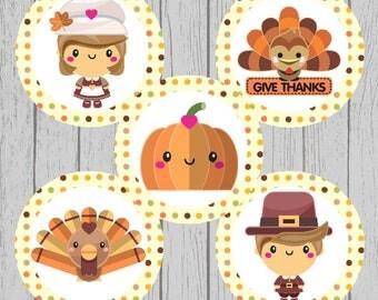 Thanksgiving Bottle Cap Images
