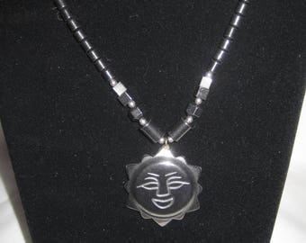 "18"" Hematite necklace"