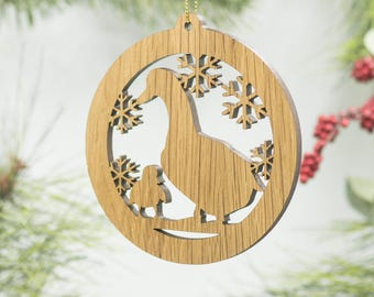 Goose Christmas Wood Ornament - Goose Silhouette Laser Cut Wooden Decor - Geese Ornament - Wildlife Ornament - Gosling - Baby Goose