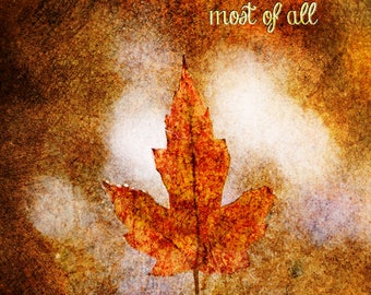 I Love Fall Most Of All Print
