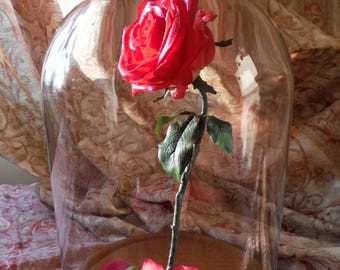 Disney Beauty and the Beast, Enchanted rose, Forever rose, Glass dome, lighted, Gift for her, Birthday, Anniversary, Engagemant, Wedding