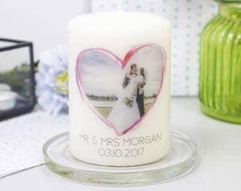 Wedding Photo Anniversary Candle - Wedding Candle - Photo Candle - Wedding Anniversary Gift - Anniversary Gift - Personalised Candle