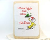 Dr. Seuss Puzzle - Green Eggs and Ham Upcycled Book Art Puzzle - Recycled Children's Book Puzzle - Wood Tray Puzzle
