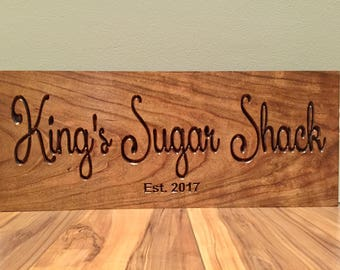 Maple Syrup,  Sugar Shack Sign, Wooden Carved Sign, Welcome Sign, Shack Sign, Maple Tree, Wood Carved Sign, Outdoor Wood Plaque