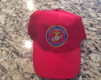 Hat Embroidered with Marine emblem
