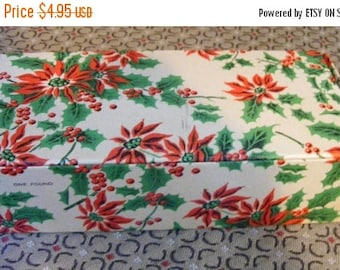 ON SALE 35% OFF Vintage Christmas / Holiday Candy / Fudge Box New Old Stock One Pound Holly / Floral