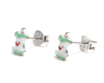 Apple earrings 925 sterling silver