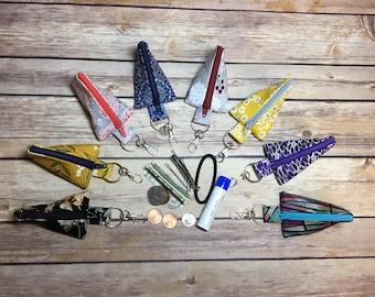 Lip balm holder, bobbie pins, hair tie holder, Keychain coin holder, coin pouch, Earbud keeper, minimalist coin pouch, Earbud holder,