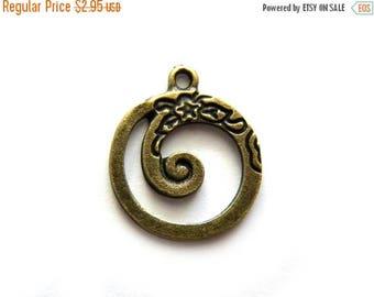 HALF PRICE 6 Bronze Spiral Charms