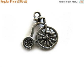 HALF PRICE 6 Silver Penny Farthing Charms
